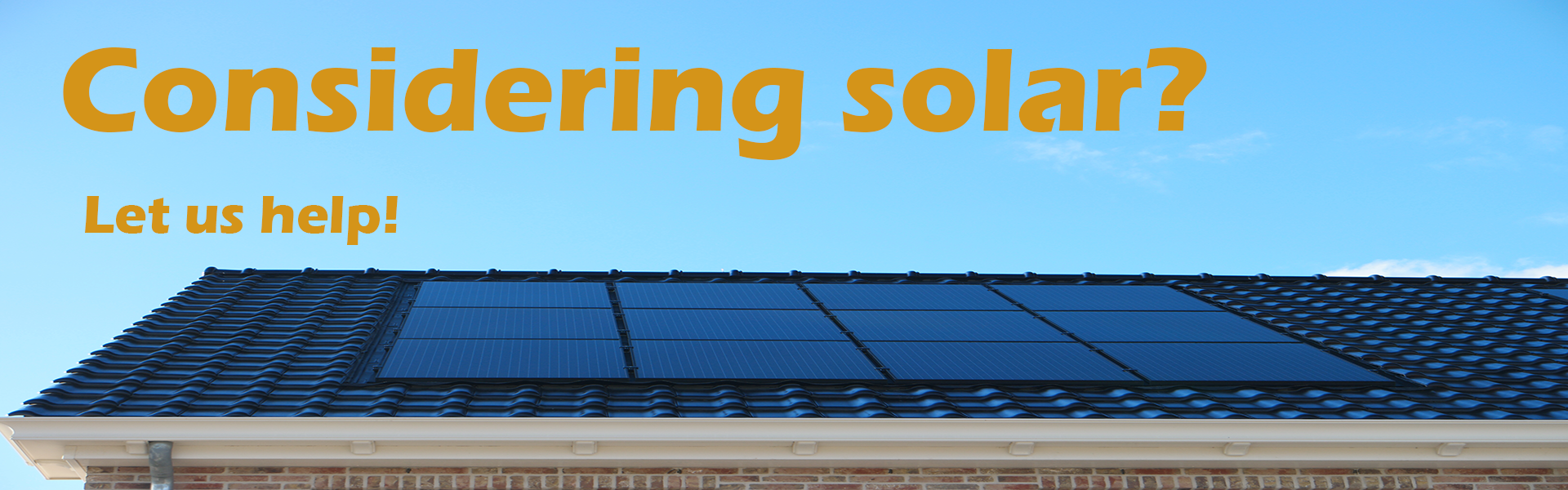 Slide of rooftop solar panels that links to our page about solar panel installations