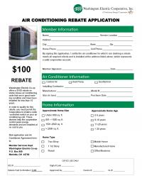 A fillable pdf form for the air conditioner rebate
