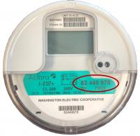 Photo of an electric meter